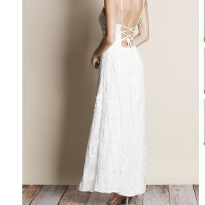 Ring My Bell All over lace maxi dress white lace